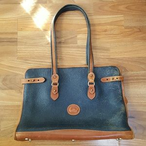 Vintage Leather Shopper Tote